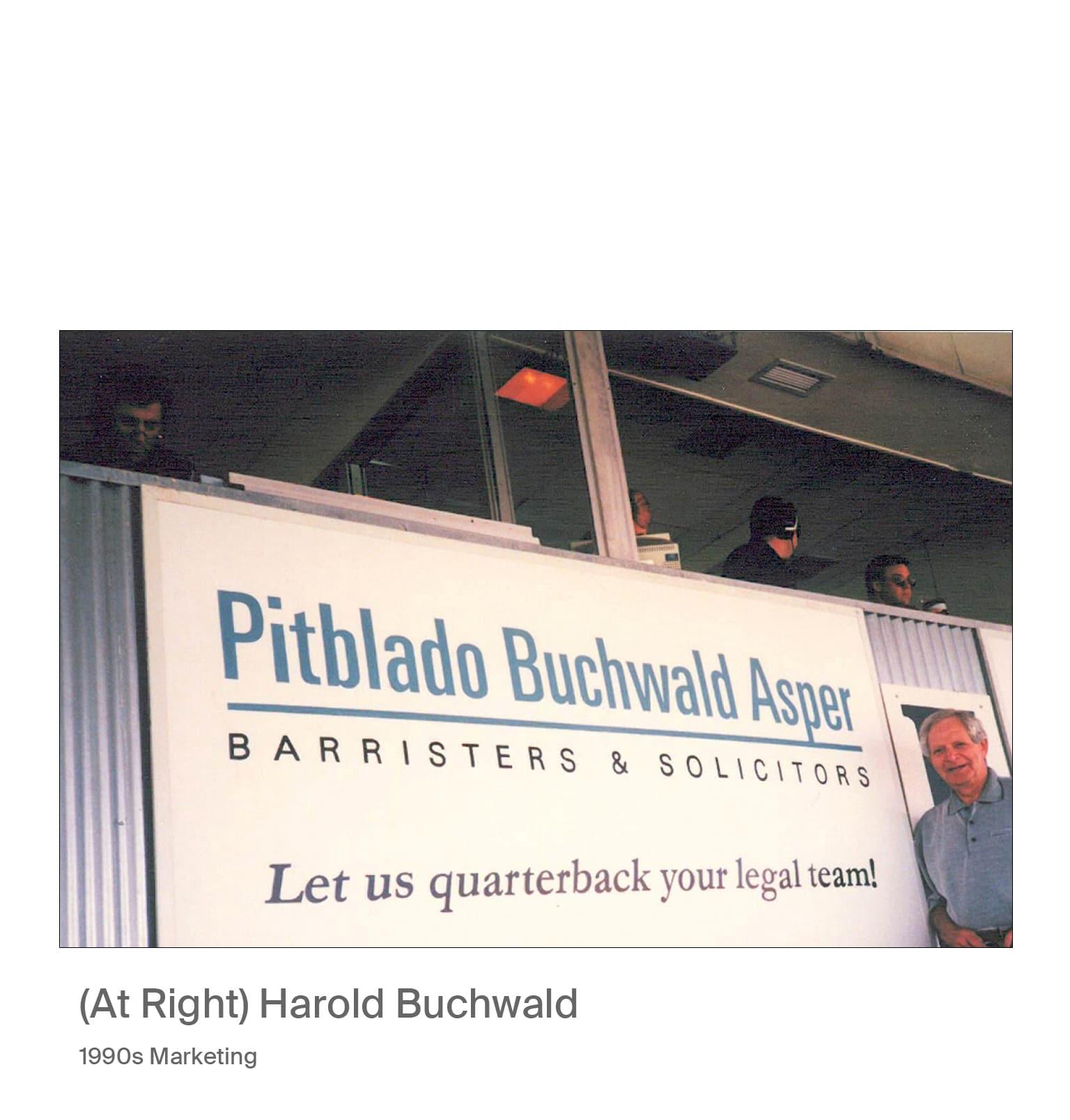 Harold Buchwalk 1990s marketing image.